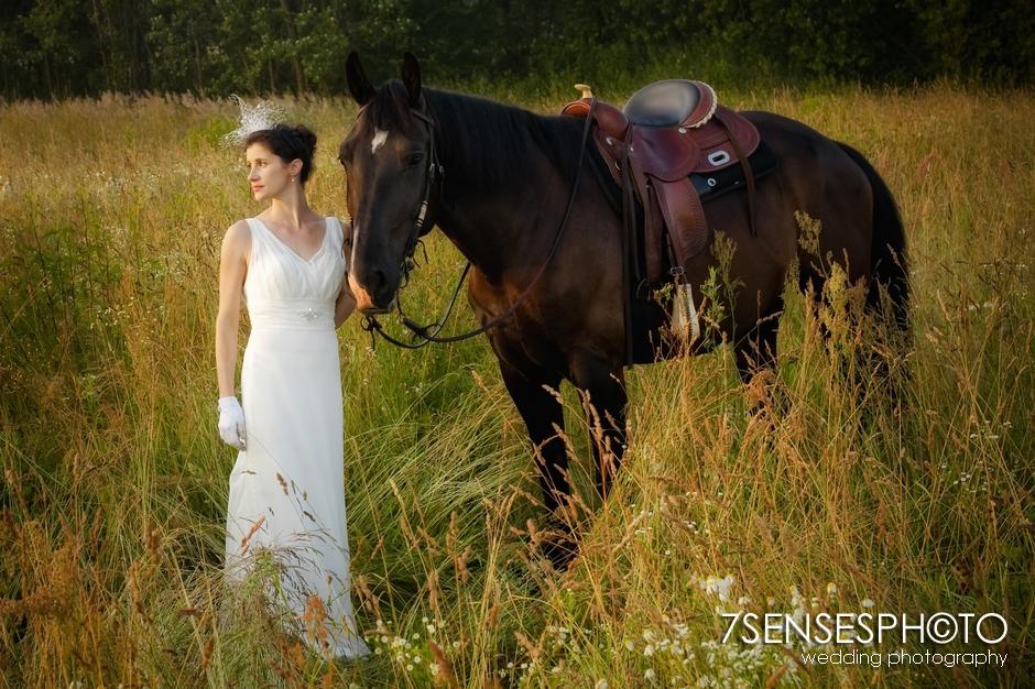 7sensesphoto sesja slubna plener konie 11
