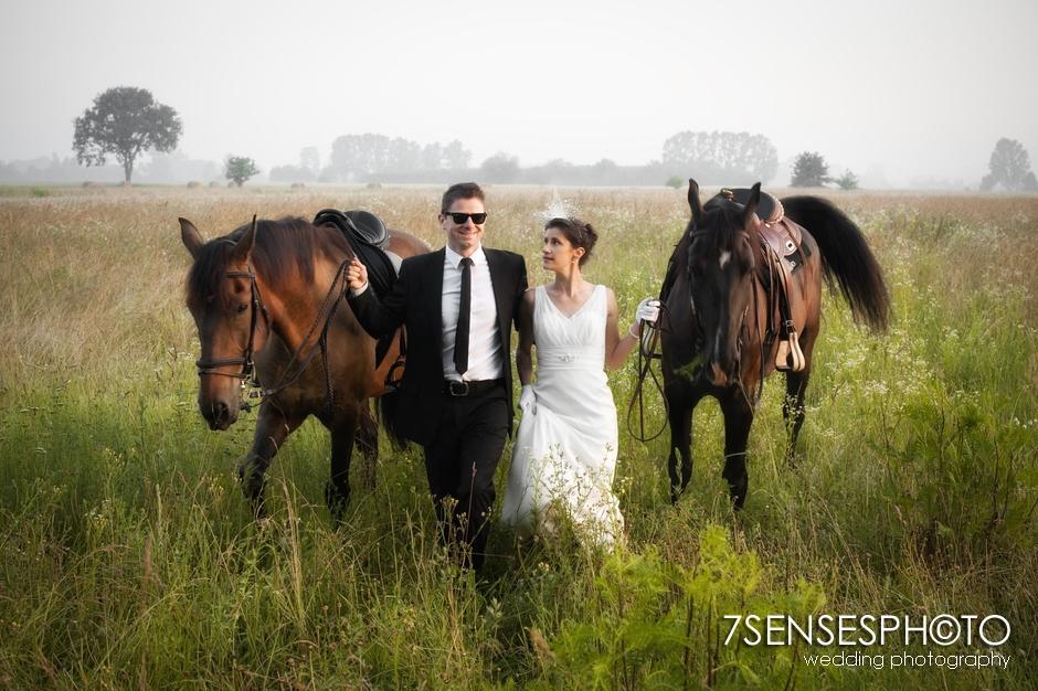 7sensesphoto sesja slubna plener konie 8
