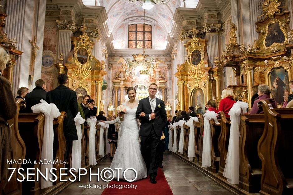 7sensesphoto fotografia ślubna Warszawa kościół św. Anny
