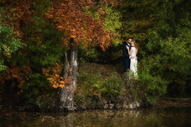 FOTOGRAFIA sesja plener przyroda jezioro las Mazury jesień ślub