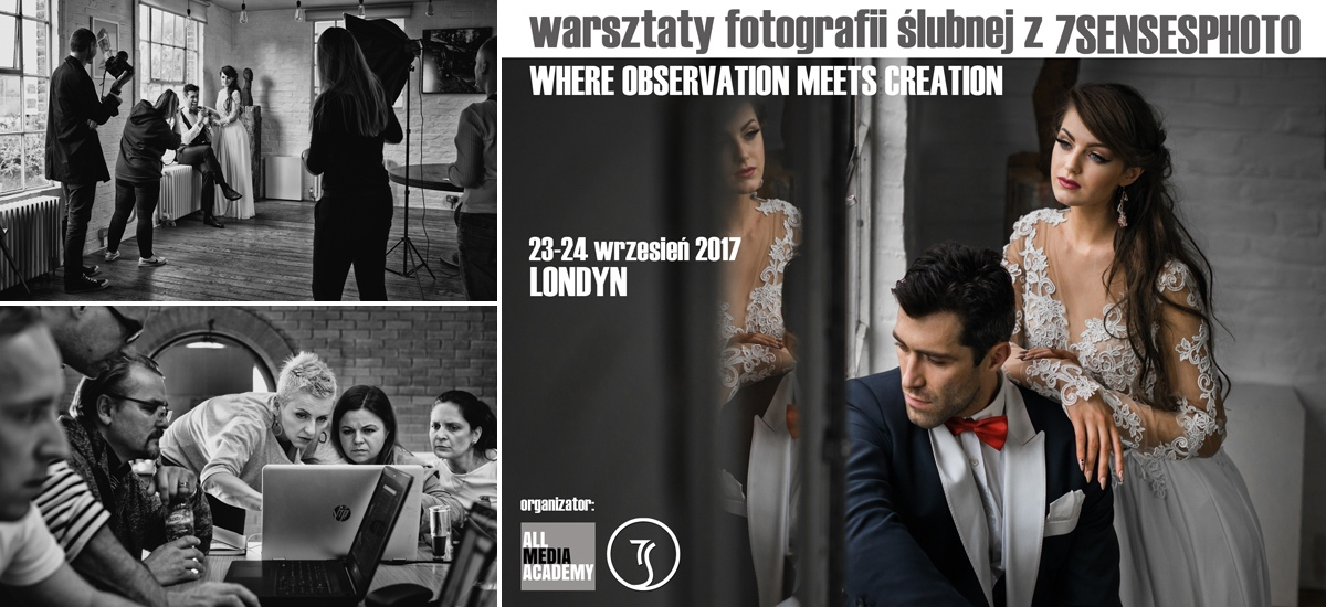 warsztaty fotografii ślubnej 7SENSESPHOTO Londyn wedding photography workshop London