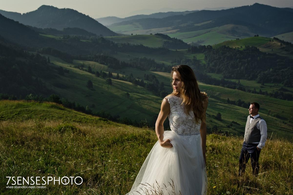 malownicza sesja ślubna w górach