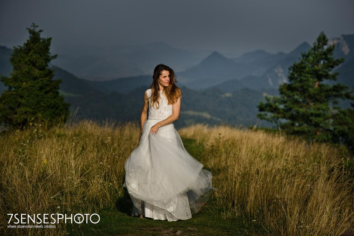 Panna Młoda sesja ślub góry