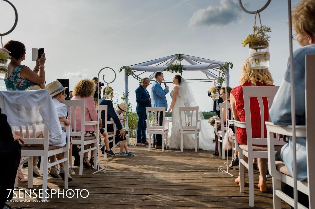 ślub na molo fotografia 7SENSESPHOTO Hotel Jablon Lake Resort Pisz Mazury