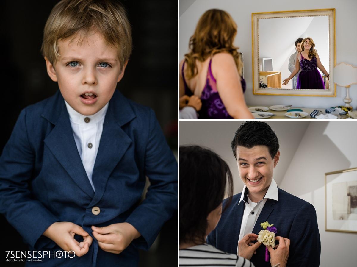 professional wedding photographers getting ready bride groom dwór oliwski