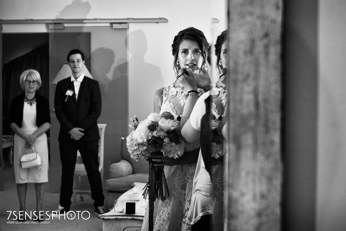 getting ready bride ceremony wedding