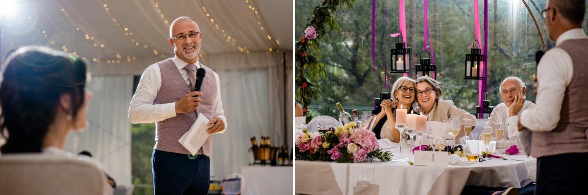 wedding speach professional photography