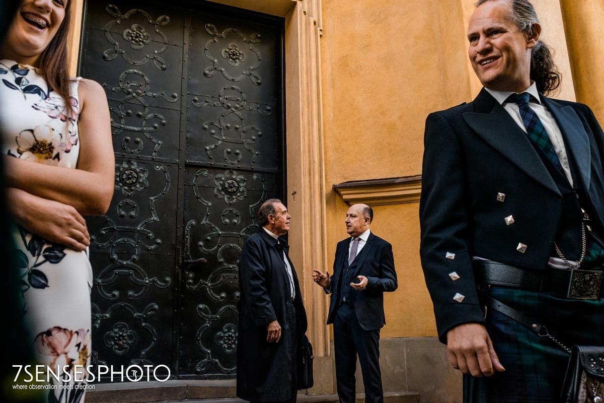 Warszawa fotoreportaż ślubny Stare Miasto ślub kościół św Marcina Piwna 9 wedding ceremony