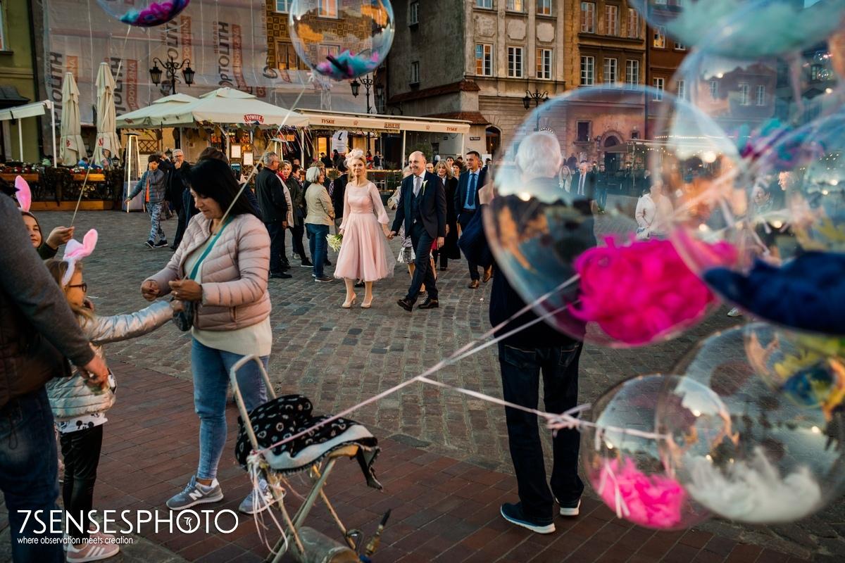 Warszawa fotoreportaż ślubny Stare Miast Plac Zamkowy ślub wedding photo
