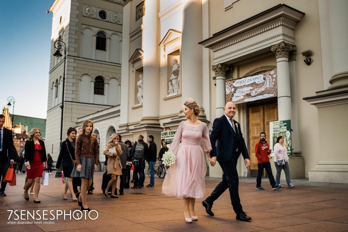 warszawa ślub Kościół św. Anny Krakowskie Przedmieście