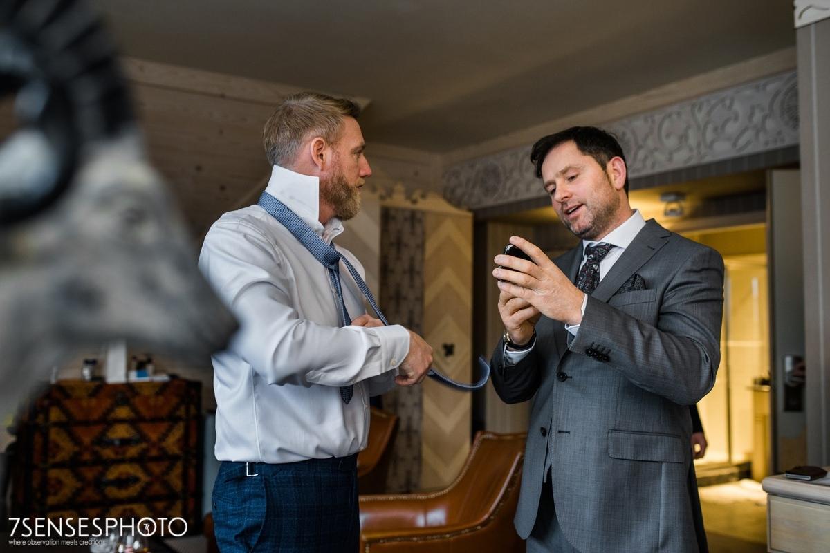wedding Groom getting ready Zakopane Aries hotel Zaruskiego 5