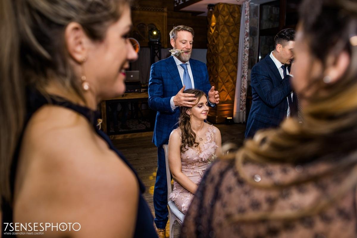 fotografia ślubna wesele Zakopane Aries hotel Halka restauracja oczepiny