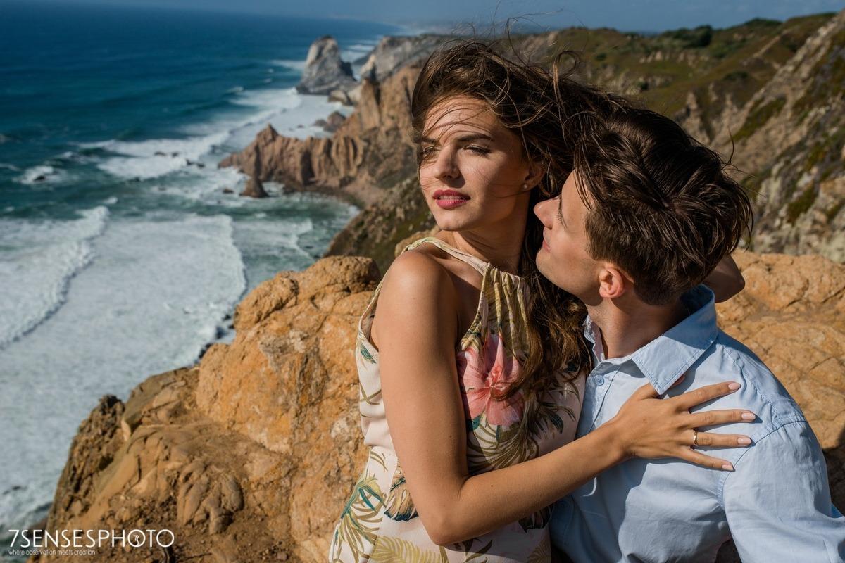 Cabo da Roca, Portugalia, Lizbona, wyjątkowa sesja narzeczeńska, ślubna