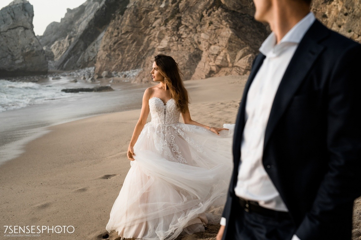 Praia da Ursa, Cabo da Roca, Portugalia, Lizbona, wyjątkowa sesja ślubna 7SENSESPHOTO