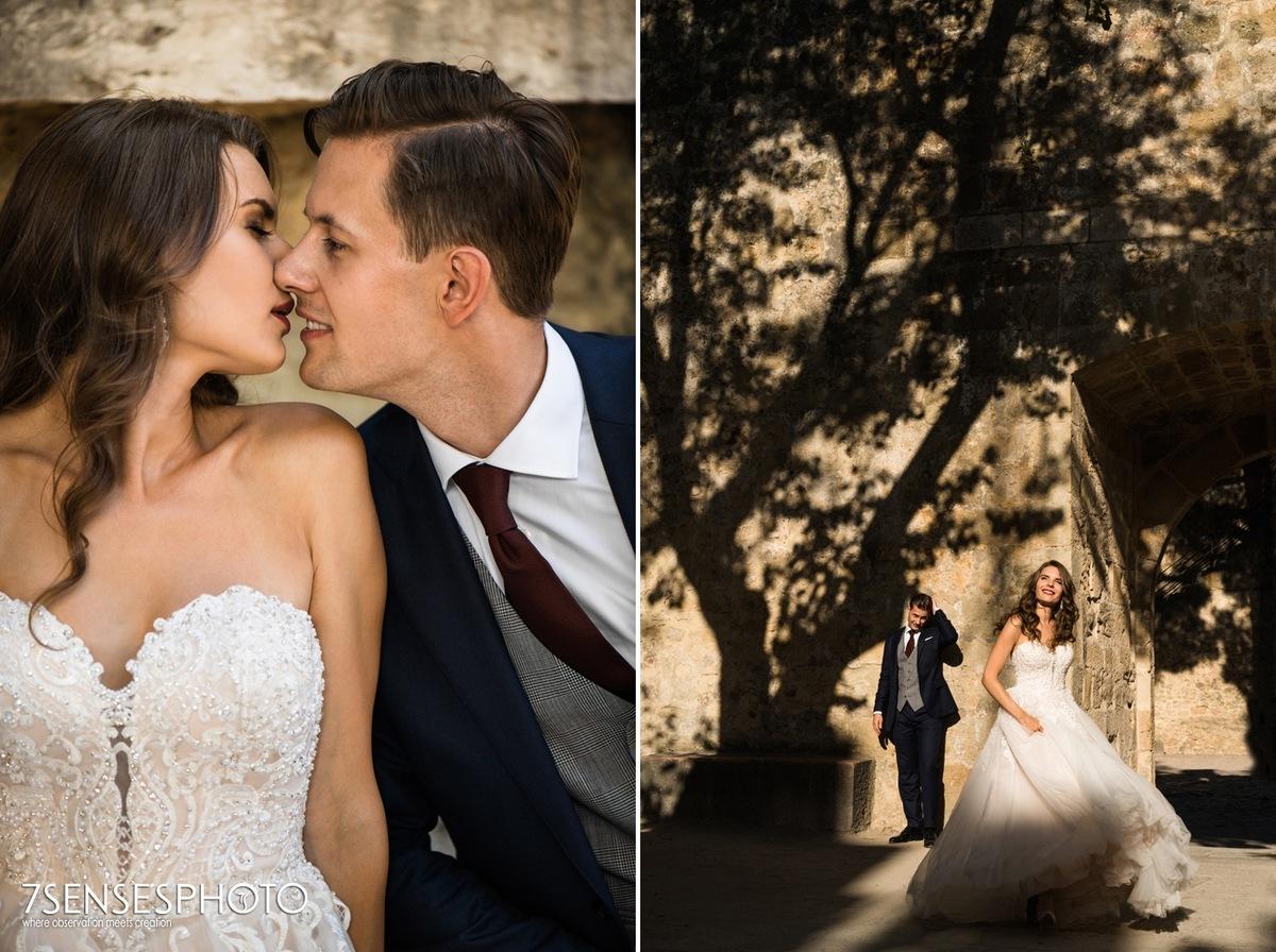 Romantyczna, wyjątkowa, klimatyczna sesja ślubna w Lizbonie, Portugalia, Zamek św. Jerzego