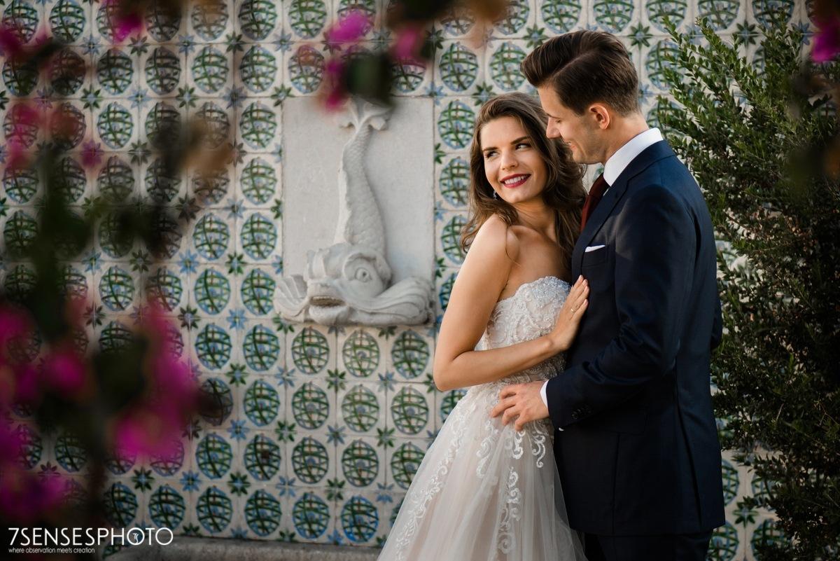 Romantyczna, wyjątkowa sesja ślubna w Lizbonie, Portugalia, Alfama dzielnica