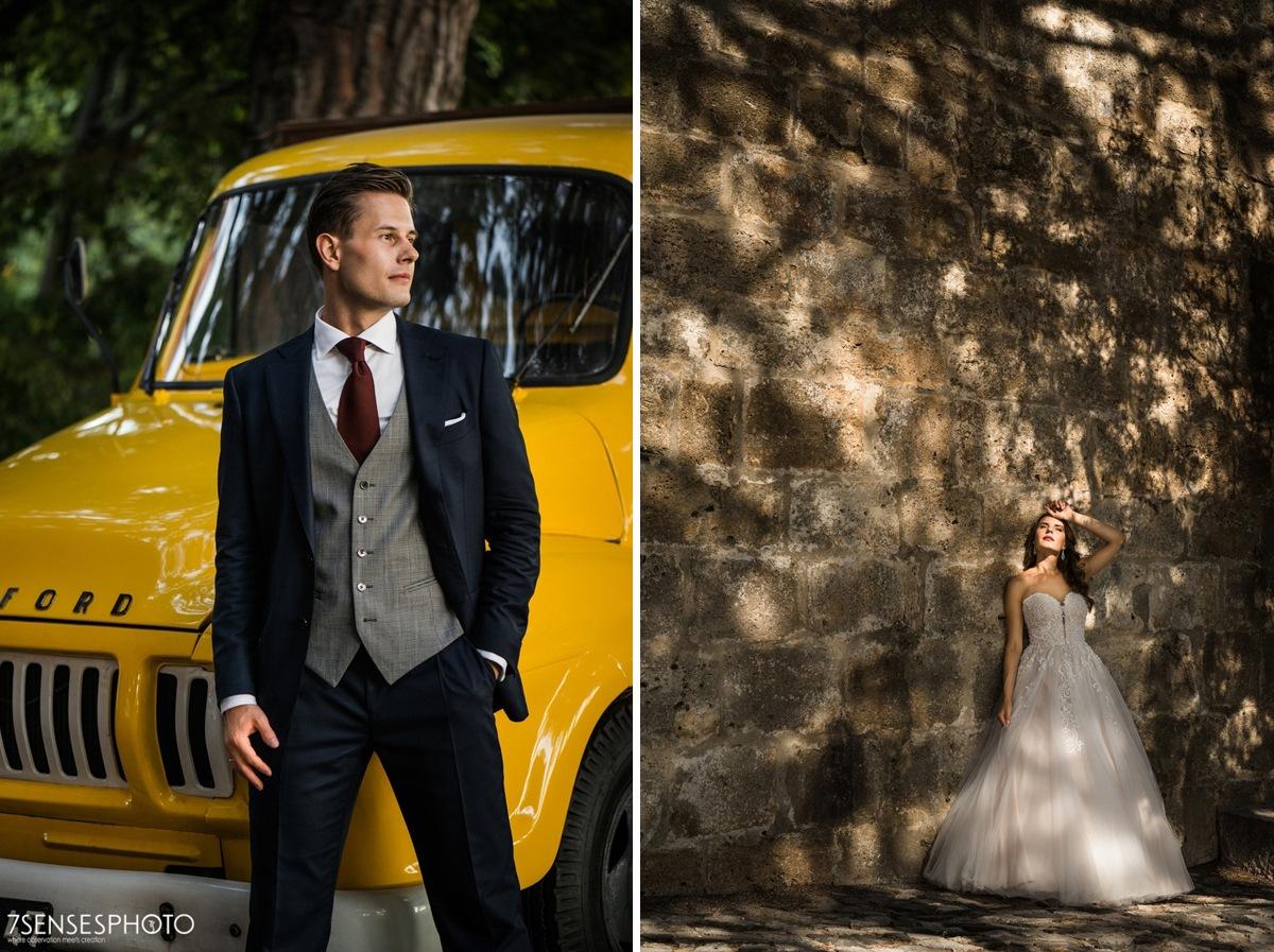 Romantyczna, magiczna sesja ślubna w Lizbonie, Portugalia, Alfama