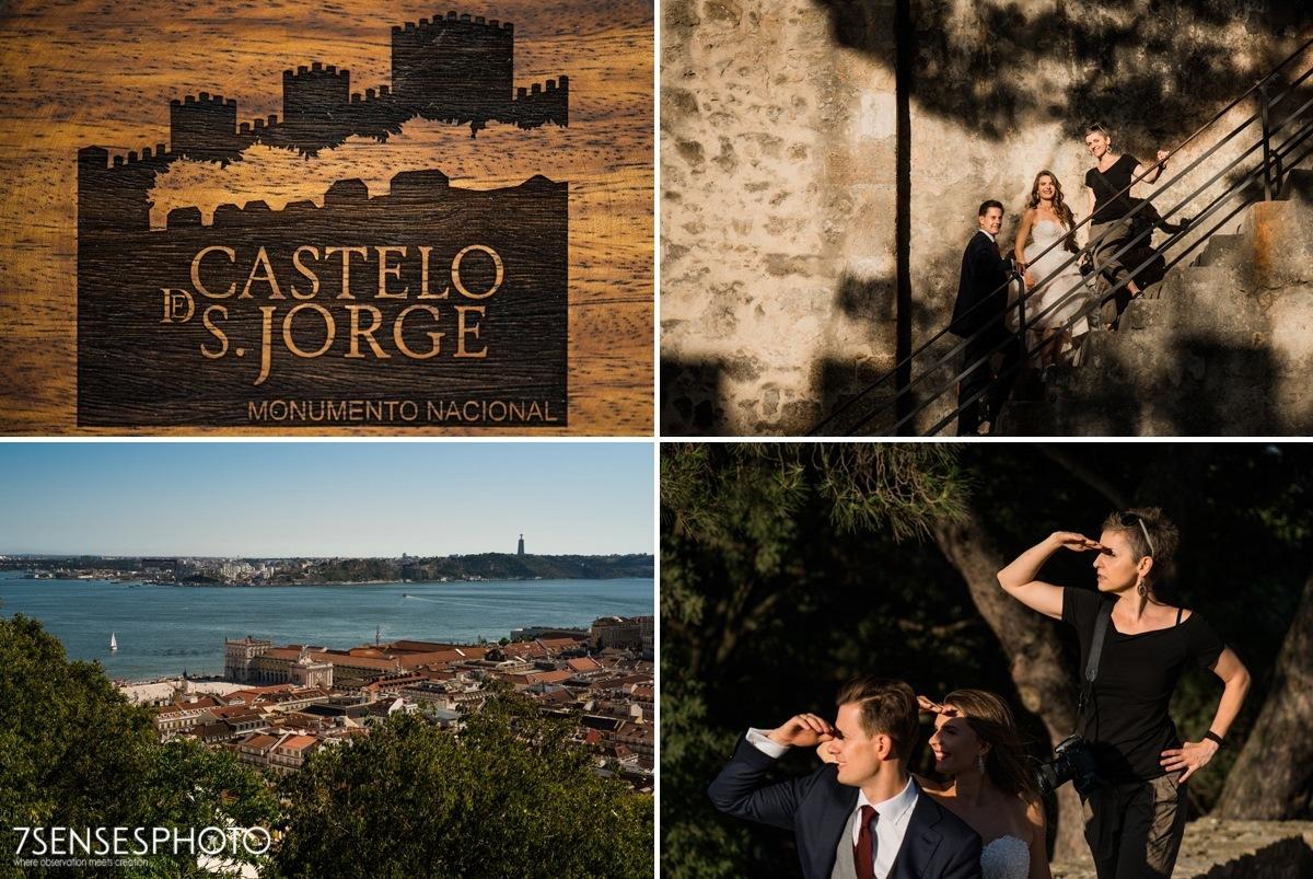 Romantyczna, wyjątkowa, klimatyczna sesja ślubna w Lizbonie, Portugalia, Zamek św. Jerzego, 7SENSESPHOTO